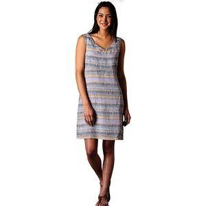 TOAD&CO LINETTE linen striped sundress